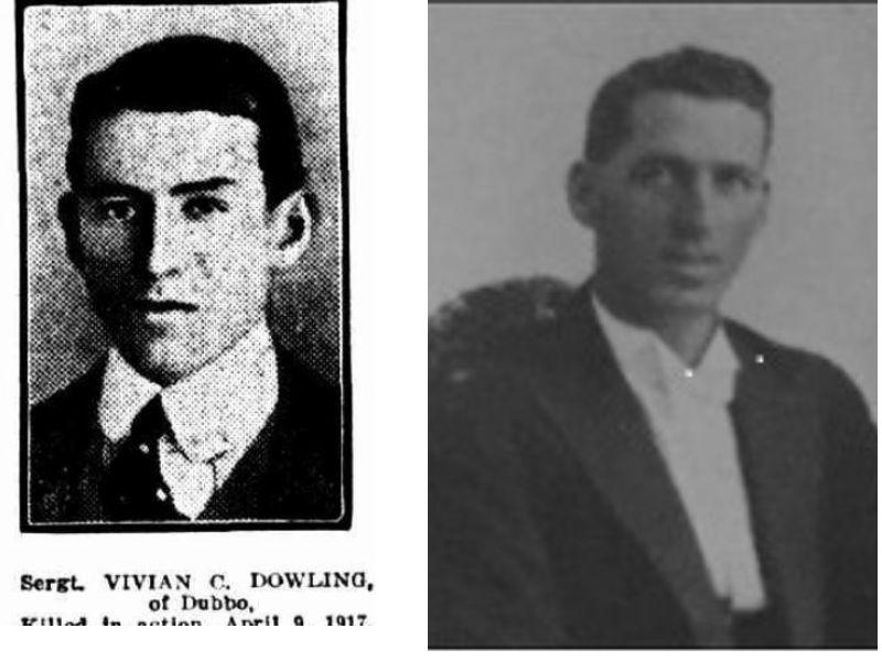 Edward and Vivian Dowling. Source Virtual War Memorial Australia